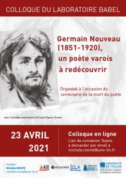 GERMAIN NOUVEAU (1851-1920), UN POÈTE VAROIS À REDÉCOUVRIR