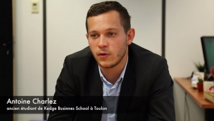 Antoine CHARLEZ, diplômé de Kedge Business School Toulon