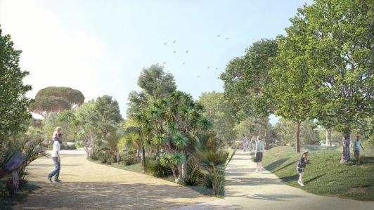 Perspective Parc paysager de la Loubière (c)VAD