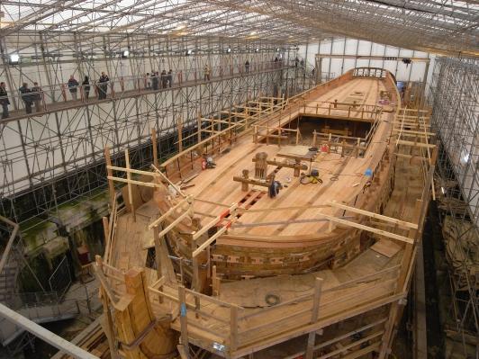 Construction de la coque dans un raboud