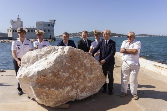 1ère pierre chantier grande jetée