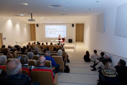 L'architecte du projet Corinne Vezzoni a fait salle comble pour ses deux conférences publiques