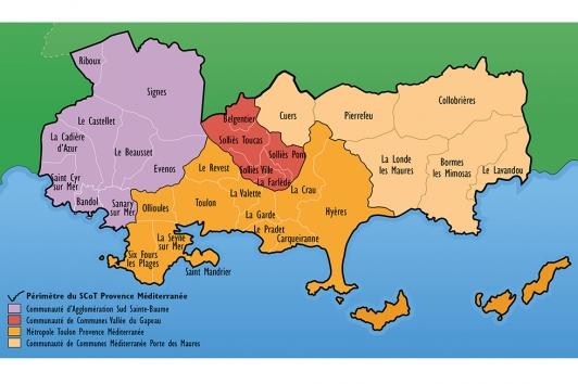 Carte du territoire du SCoT