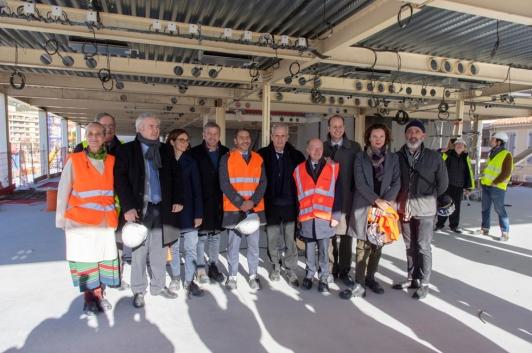 Visite du chantier Chalucet par les équipes Camondo, la villa Noailles, Hubert Falco et Jacques Bianchi