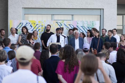 Inauguration du 13e design Parade Hyères par Jean-Pierre Blanc et Jean-Pierre Giran