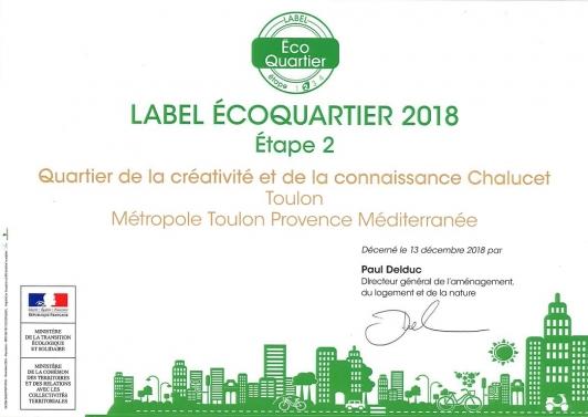 Label EcoQuartier Chalucet