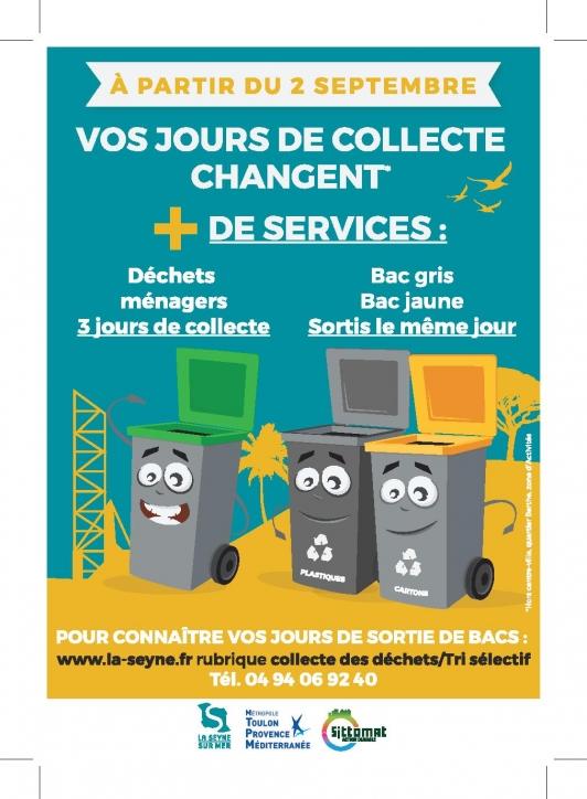 Vos jours de collecte changent à la Seyne-sur-Mer