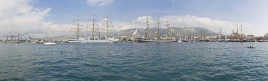 Vue générale des bateaux