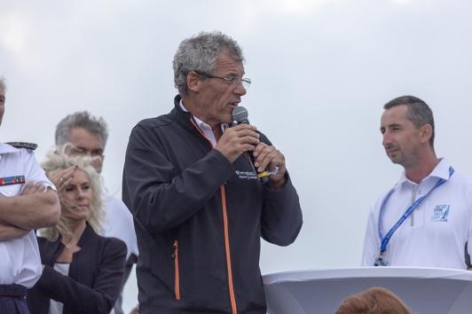 Sébastien Destremeau a commenté les courses en direct et remis les prix aux équipages