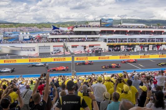 Départ du Grand Prix de F1 au Castellet