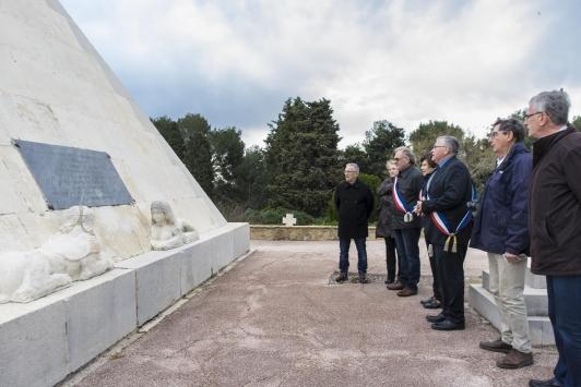 Hommage au 1er commandant de l'Hermione, Latouche Tréville, à Saint-Mandrier