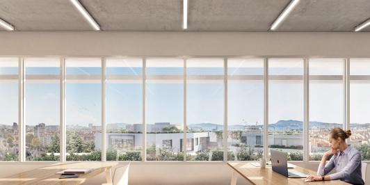 Perspective Depuis la salle de cours - denier étage - ifpvps - îlot Montety - Toulon