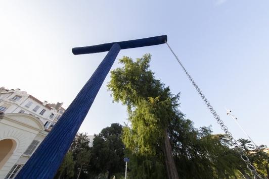 Installation de La Fontaine Italique le 23 septembre 2020