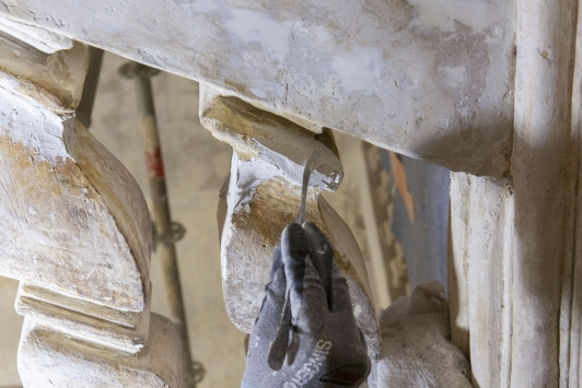 Restauration balustrade de l'escalier monumental, Maison du patrimoine à Ollioules