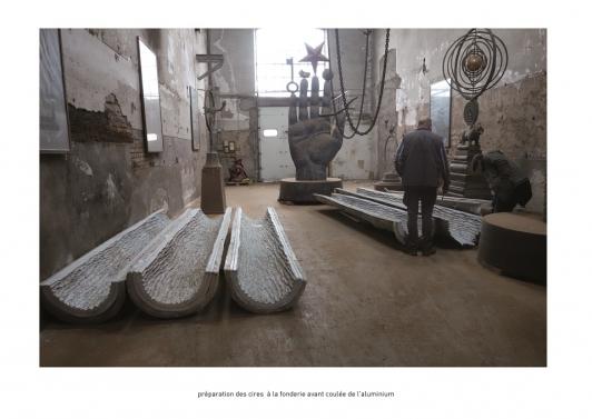 Moulage de l'œuvre - fabrication des moules