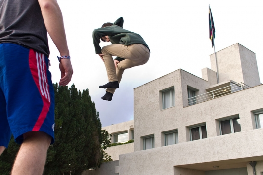 Initiation au trampoling - Equipe de France - Festival Pitchouns 2015