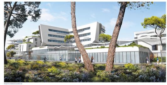 Perspective Futur bâtiment ZAE Sainte Musse - vue Nord-Est