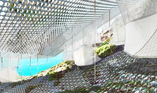 PILA (Papageorgiou Ilias Architecture) Veiled, concept, pavillon grec, Biennale internationale d'architecture de Venise, 2014 Sous la canopée