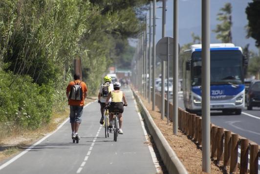 Piste Vélo aeroport Hyères