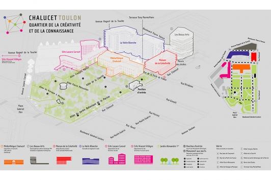 Plans détailles du quartier de la créativité et de la connaissance Chalucet
