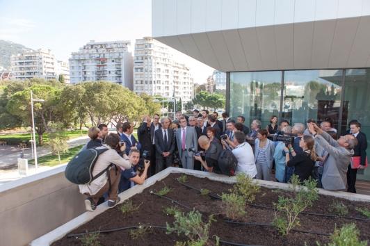 Inauguration Pôle universitaire campus Porte d'Italie