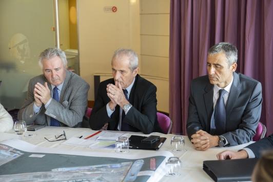 Jacques Bianchi, Hubert Falco et Pierre Mattei