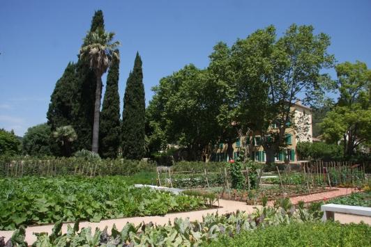 Potager du Jardin remarquable de Baudouvin