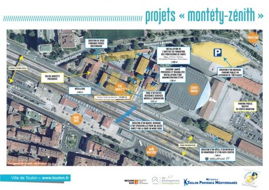 Projet aménagement du quartier Montéty