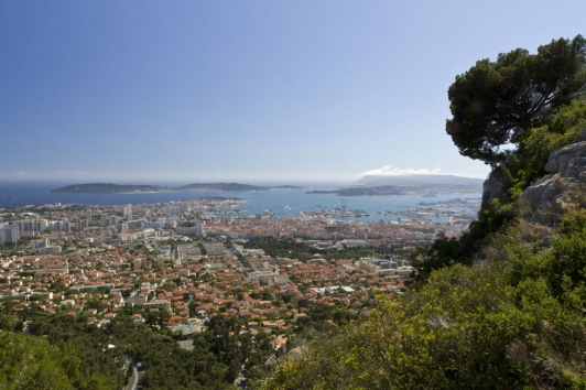 Rade de Toulon - Vue du Faron
