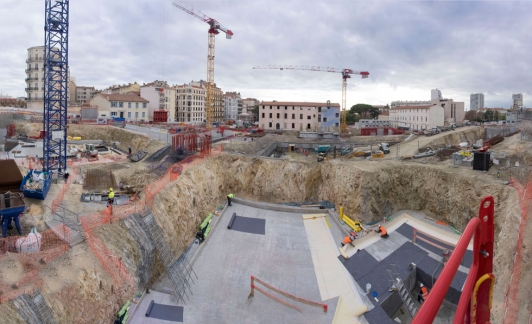 Vue générale du chantier fin novembre 2017