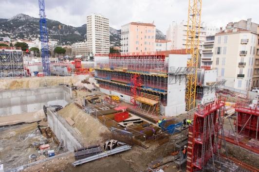 Les premiers niveaux du bâtiment CCIV/Kedge
