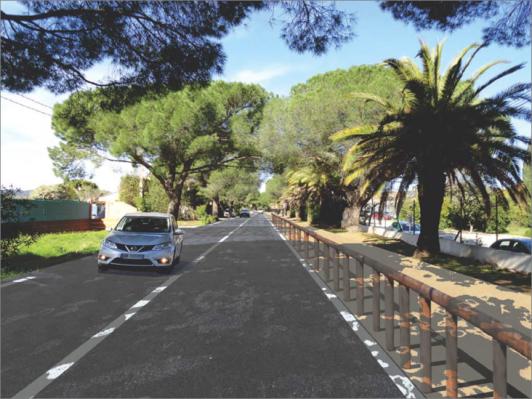 Travaux de requalification de l'avenue Alfred Decugis à Hyères