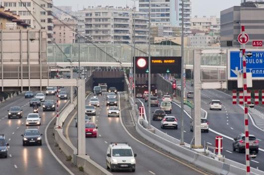 Tunnel Toulon entrée ouest
