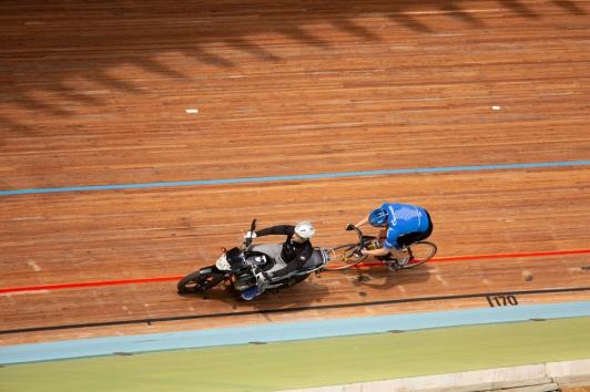 Entrainement de l'équipe russe au Vélodrome