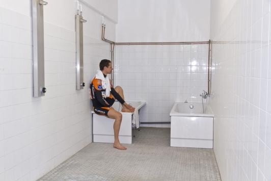 Bain de glace, vélodrome TPM