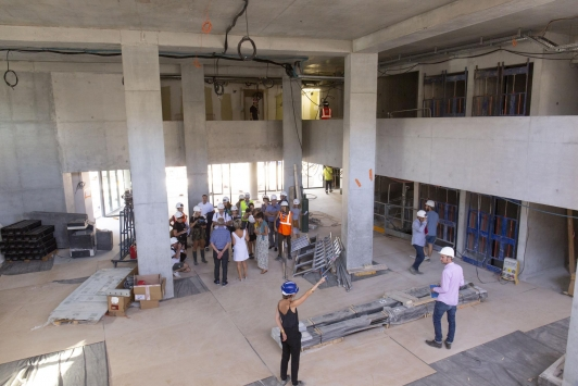 Visite chantier du Chalucet Bâtiment de l'ESADTPM