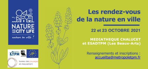 Les rendez-vous de la Nature - les 22 et 23 octobre 2021