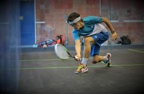 Victor Crouin, athlète de haut niveau en squash