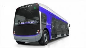 Nouveau bus électrique Aptis, vue arrière.