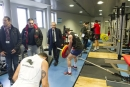Salle de musculation visitée par Hubert Falco et Laurent Emmanuelli