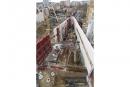 Le socle en triangle de l'ESAD et ses murs de 9 m de haut