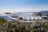 J-3: le village exposants et les dômes de la Cité des Sciences et de la Mer, anse Tabarly au Mourillon