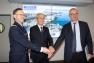 L'Amiral Laurent Hemmer – Adjoint territorial au Préfet Maritime de la Méditerranée ; Hubert Falco, Président de la Métropole TPM ; et Jean-Luc Videlaine - Préfet du Var