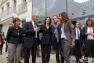 Geneviève Lévy, Hubert Falco, Audrey Azoulay, Charles Berling et Pascale Boeglin Rodier devant le Liberté