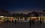 Perspective place Clemenceau de nuit