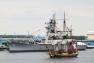 L'Hermione dans le port de Philadelphie