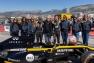 Hubert Falco, président de TPM entouré des pilotes Anthoine Hubert et Victor Martins, et de l'équipe du GIP