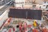 "L'outil mur incliné qui va ""soutenir"" la façade est de l'ESAD"