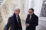 Hubert Falco et Serge Lasvignes à l'Hôtel départemental des Arts à Toulon